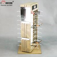 China Custom 2-Way Sunglasses Display Case , Wooden Sunglasses Display For Retail Shop wholesale
