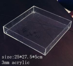 China Rectangle Clear Acrylic Tray 3mm acrylic service tray wholesale