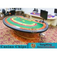 China Multi-functional Macau Galaxy Luxury Poker Table With Three Printed Table Cloths wholesale