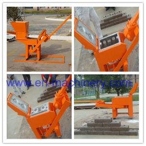 China Manual Fly Ash Brick Making Machine 2-40 Manual Compressed Soil Brick Making Machine on sale