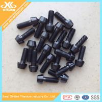 China Black Nitriding Titanium Hex Socket Tapered Head Screws wholesale