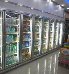 China Convenience Store Glass Door Freezer For Fruit 2 - 8 Degree Danfoss Compressor wholesale