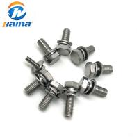 Buy cheap Hex Head Sem Combine Stainless Steel Bolts , Half Thread Bolt With Flat Washer from wholesalers