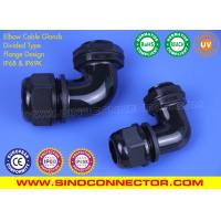 China Divided Type IP68 Elbow Cable Glands with Flat Gasket (Flange Design) on sale