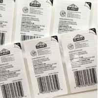 China Plastic Peel Off Sticker Labels , Various Self Adhesive Removable Labels wholesale