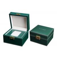 China Empty Wooden PU Leather Watch Box MDF Wrapped Velvet Inside 295 X 85 X 40mm wholesale