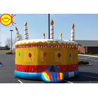 China 0.55mm PVC Birthday Cake Inflatable Bounce House Jumper Combo Bouncer For Kids Play wholesale