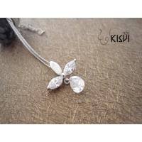 China 925 sterling silver necklace with zircon W-TZ051 wholesale