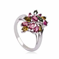 Buy cheap High Quality Crystal 100% 925 Silver Jewellery Shiny Rings K-BC-A954 from wholesalers