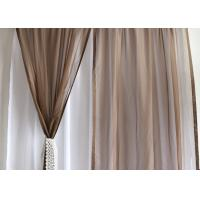 China Soft / Lightweight Fabric Dining Room Curtains 100% Polyester Dry Clean Only wholesale