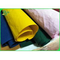 China Yellow Color Biodegradable Natural Fabric Kraft Paper Roll 150cm X 110 Yards wholesale