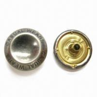 China Snap Buttons, Made of Brass, Measuring 15.4mm wholesale