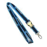 China 20mm Wide Reflective ID Card Holder Lanyard With Silk Screen Printed Logo on sale