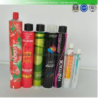 China Body Care Cream Empty Aluminum Tubes  , 150ml Food / Cosmetic Tube Packaging wholesale