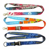 China Custom-made colorful Flat polyester / Nylon /  heat transfer / tube /cord / woven lanyard wholesale
