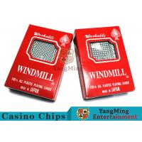 China 150g / Pcs Texas Holdem 100% Plastic Playing Cards For Casino Gambling Games wholesale