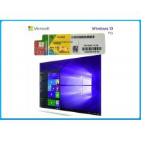 China Pro / Businesses PC Computer Software Genuine Windows 10 Product Key Sticker 32 / 64 Bit wholesale