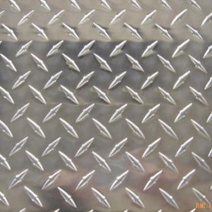 China Custom Cut 1xxx 3xxx 5xxx 6xxx 8xxx Diamond Embossed Aluminum 1.0mm wholesale