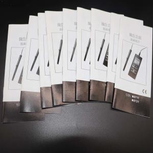 China Black / White Binding Small Booklets ,Saddle Stitch Magazine For Product Instruction on sale