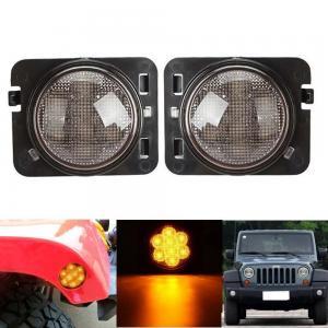 China Amber 2007-2017 Jeep Wrangler Smoked Turn SignalsClear Lens IP 68 Waterproof wholesale