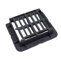 China EN124 D400 End Hinged Cast Iron Drain Cover With Black Bitumen Coated on sale