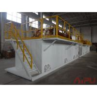 China Oilfield well drilling rectangular mud tanks for sale at Aipu solids control wholesale