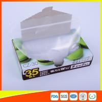 China Transparent Plastic Zipper Top Zip Lock Bag For Cold Food Storage FDA Approved on sale