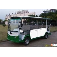 China Safety 14 Seater Pure Electric Shuttle Bus With Closed Door For Reception 5KW DC Motor on sale