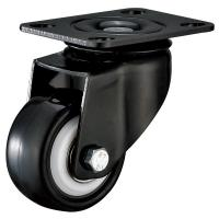 China Black Bracket Office Furniture Casters , Small Plate Mount Caster Wheels on sale