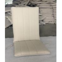 China cream spun polyester foldable chair patio cushion replacement on sale