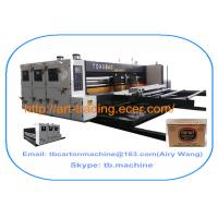 Buy cheap white color high quality TB800 lead edge feeder 2 color printing slotting machine for big size corrugated carton box product