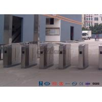 Quality Cold Rolled Steel Luxury Flap Barrier Gate , Pedestrian Access Control Turnstile for sale