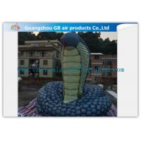China Giant Inflatable Cartoon Characters Snake Model With Silk Print , Hand Painting wholesale