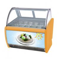 China 12 Pans Intalian Gelato Ice Cream Display Freezer Fully Automatic Operation wholesale
