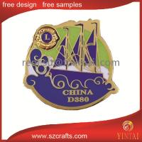 China factory price wholesale custom metal badge for lion club wholesale