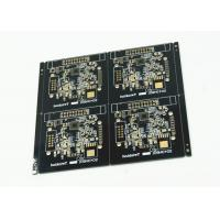 China Black Soldered Multilayer PCB White Legend 4 Pcs Arrayed Gold Finish wholesale