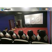 China Park 9D Cinema Seat With Electric / Pneumatic System Round Screen wholesale