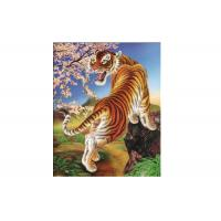Quality Vivid Tiger Image 3d Lenticular Image For Home 0.76mm Thickness 3d Animal for sale