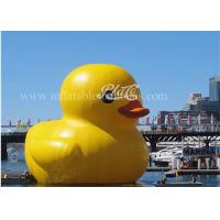 China Inflatable Big Yellow Rubber Duck Floating 3m Height For Water Games wholesale
