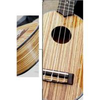 China Pretty Polished 21 inch Hawaii Guitar Ukulele With Stripe Zebrawood Top AGUL13 wholesale