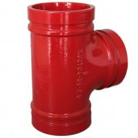 China Anti Rust Ductile Iron Pipe Fittings Grooved Plumbing T Joint / Water Pipe T Joint wholesale