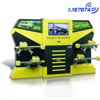 China E767A Yellow CCD 3excel Wheel Aligner , Automotive Four Wheel Tire Alignment Computerized wholesale