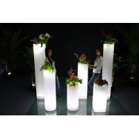 China Round Outdoor Garden Decor Glow In The Dark Planters 3 Years Warranty wholesale