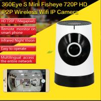 China EC5 720P Fisheye Panorama WIFI P2P IP Camera IR Night Vision CCTV DVR Wireless Remote Surveillance on iOS/Android App wholesale