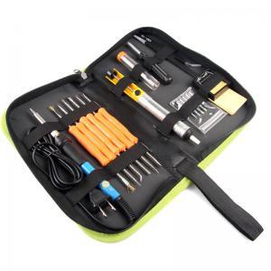 China 60W Soldering Iron Kit Adjustable Temperature 200V~230V Green K014 on sale