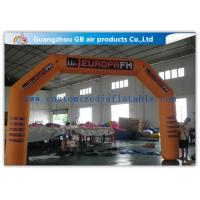 China Orange Custom Inflatable Race Arch , Inflatable Archway 420D Oxford Cloth Material wholesale