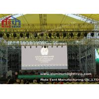China Outside Concert Stage Light Truss , Spigot Arc Stage Lighting FrameSolid Structure wholesale