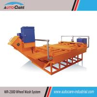 China Automatic Roller Type Truck Wheel Washing Systems with foundation pit on sale