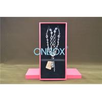 China Solid Luxury Jewellery Packaging Boxes Removable Insert Pads For Necklace wholesale