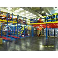 Powder Coat Steel Rack Supported Mezzanine For Distribution Center